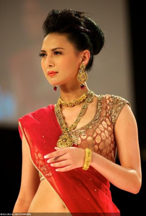 Rochelle Maria Rao - Miss India International 2012 in sari. photo